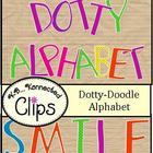 Clip Art ~ Dotty-Doodle Alphabet  (uppercase)