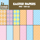 Clip Art: Easter Backgrounds - 12 Easter themed Digital Papers