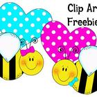 Clip Art Freebie! Love Bees