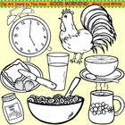Clip Art Good Morning in black and white