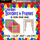 Clip Art--Little Bears Borders and Frames