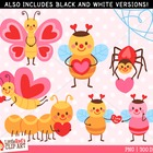 Clip Art - Love Bugs - holiday-themed clipart