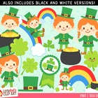 Clip Art - Lucky Leprechauns - holiday-themed clipart
