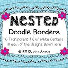 Clip Art: Nested Doodle Borders/Frames (Personal &amp; Commerc