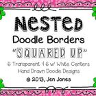 Clip Art: Nested Doodle Borders/Frames &quot;Squared Up&quot; (Perso