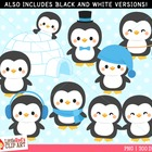 Clip Art: Penguin Cuties - Winter theme clipart