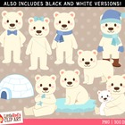 Clip Art: Polar Bears- Winter theme clipart