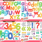 Clip Art: Rainbow Letters and Numbers Clipart Bundle