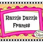 Clip Art - Razzle Dazzle Frames - Freebie sample in preview!