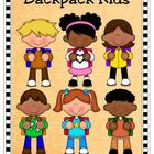 Clip Art - Ready for School...Backpack Kids!