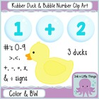 Clip Art - Rubber Ducks &amp; Bubble Numbers - Math clipart