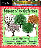 Clip Art   Seasons of an Apple Tree