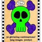 Clip Art - Skulls with Glitter Bones!