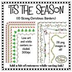 Clip Art ~ 'Tis the Season Skinny Christmas Frames - Freeb
