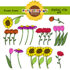 Clip Art for Teachers and personal projects - Flower Power
