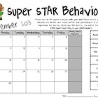 Clip Chart Behavior Calendar - Hollywood Theme