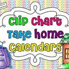 Clip Chart Take Home Calendars for 2013-2014