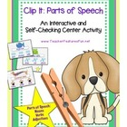 Clip It: Parts of Speech (An Interactive and Self-Checking