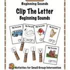 Clip The Letter- Beginning Sounds