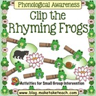 Clip the Frog Rhyming Game