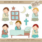 Clipart - Bed Time Prayers (Boy)