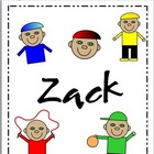"Clipart - Character Graphics of ""Zack"" to use in Your Projects"