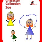 "Clipart - Character Graphics of ""Zoe"" to use in Your Projects"