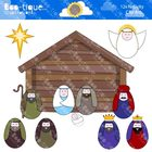 Clipart- Nativity Clipart. Christmas Nativity Clip Art. Ch