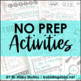 Clipboard Classroom Activities