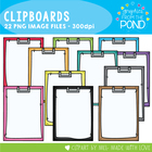 Clipboards - Graphics Clipart From the Pond