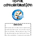 Clock Concentration/Memory, Telling Time