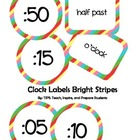 Clock Labels Bright Stripes