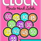 Clock Labels (Polka Dot/Bright Colors!)