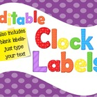 Clock Labels Primary Colors