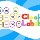 Clock Labels Rainbow Stripes