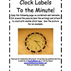 Clock Labels to the Minute!