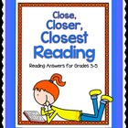 Close, Closer, Closest! Reading Strategies and More