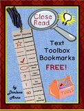 Free Close Read and Annotation Bookmarks