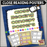 Close Reading Concept Posters