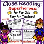 Close Reading; Fun for Kids ~ Easy for Teachers! Grades 3, 4 & 5