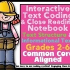Close Reading Interactive Notebook Informational Text: Cod