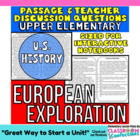 Close Reading Passage {European Exploration 4th Grade}