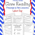 "Close Reading Passage & Mini Lessons ""Labor Day"""