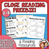 Close Reading Freebie