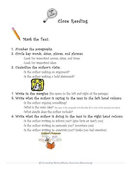 Close Reading Procedure