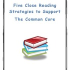 Close Reading Strategies that support the Common Core K-12
