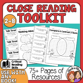 Close Reading Toolkit for Informational Text! CCSS aligned for all RI Standards
