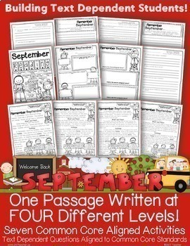 Close Reading and Text Evidence FREEBIE (Differentiated Se