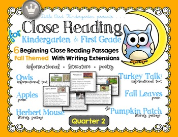 Close Reading for Kindergarten & First Grade: Quarter 2 Bundle