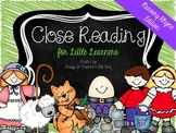 Close Reading for Little Learners {Nursery Rhyme Edition}